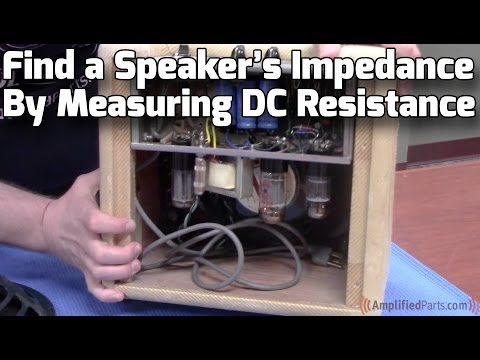 Find a Speaker's Impedance by Measuring DC Resistance