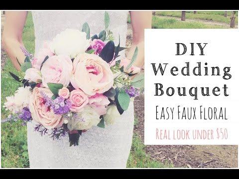 HOW To MAKE A WEDDING BOUQUET  |DIY Real Look Faux Floral Bouquet