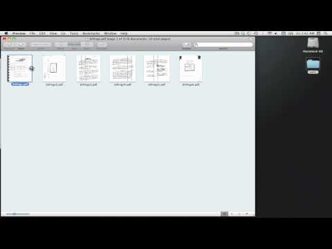 Mac OSX Basics - Combining PDFs with Preview