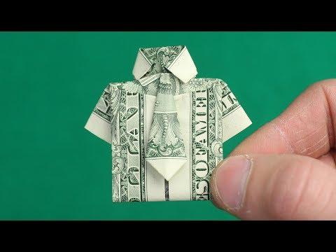 DOLLAR ORIGAMI SHIRT