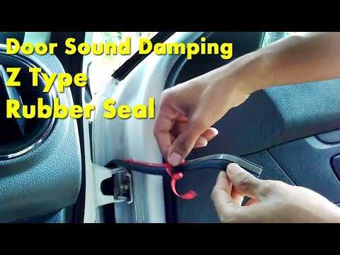 Car Door Sound Damping With Z Type Rubber Seal DIY- Renault KWID