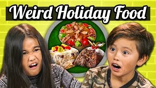 KIDS vs. FOOD - WEIRD HOLIDAY FOODS