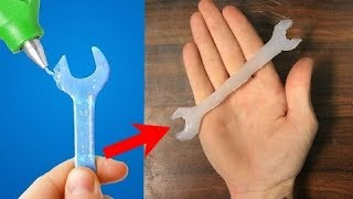 Trying 30 GENIUS HOT GLUE HACKS By 5 Minute Crafts (part 2)