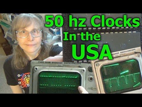 Making A 50hz Digital Clock Circuit Run In The USA