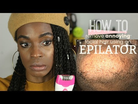 How to Remove Annoying Lip and Chin Hair FAST at HOME using an Epilator!