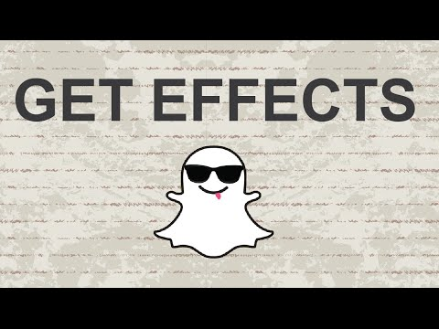 How to get effects on Snapchat - 2015