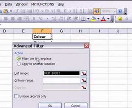 Remove Duplicate Records in Excel 2003