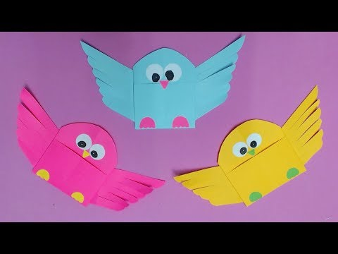 How to Make Bird with Color Paper | DIY Paper Birds Making