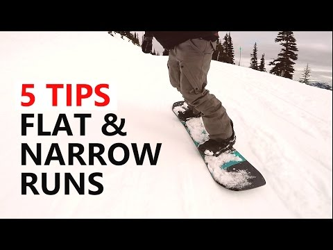 5 Tips To Survive Flat & Narrow Runs - Beginner Snowboard Tutorial
