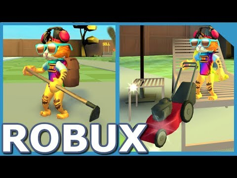 SPENDING ALL MY ROBUX IN ROBLOX YARD WORK SIMULATOR