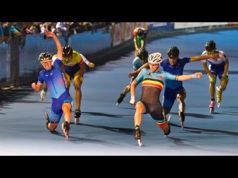 2013 Speed Skating Championships 18 - 1k Men race - POWERSLIDE RACING inline skates
