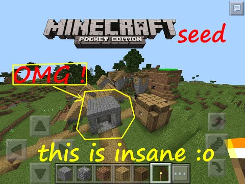 MCPE 0.15.0 - SEEDS ARE GETTING CRAZY ! STRONGHOLD ENTRANCE ON SURFACE AT SPAWN SEED |