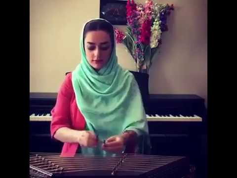Persian girl playing santoor