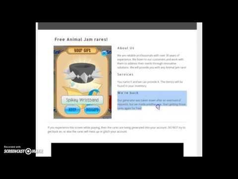 Animal Jam - FREE RARES! NEW WEBSITE & GENERATOR!