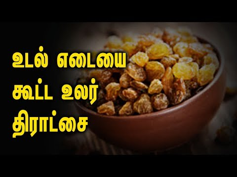 Gain Weight with Dry grapes - Tamil Health Tips