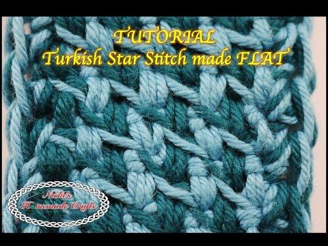 Tutorial: Turkish Star Stitch made FLAT