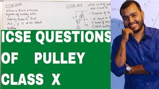 ICSE  QUESTIONS - PULLEY : CLASS X PHYSICS - CONCEPTS