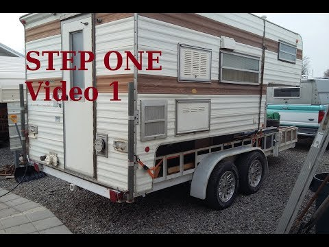 DIY Hybrid Camper Trailer build to BUG OUT, Prepper Video 1