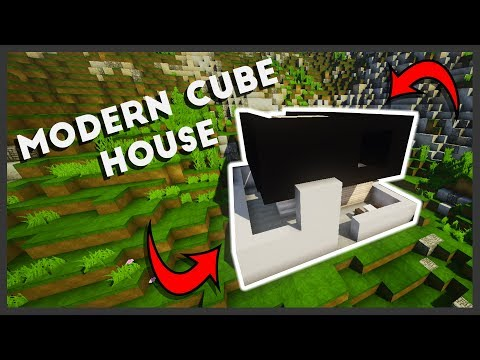 Minecraft: How To Make A Modern Cube House (Easy Tutorial)
