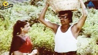 Honeymoon Trip Comedy   Kazhugu Tamil Movie Comedy Scenes   Rajinikanth   YG Mahendran   Sumalatha