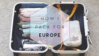 How I Pack for Europe (KonMari)