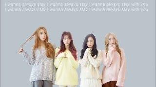 Dal Shabet - Stay with you Lyrics code (HAN/ROM/ENG)