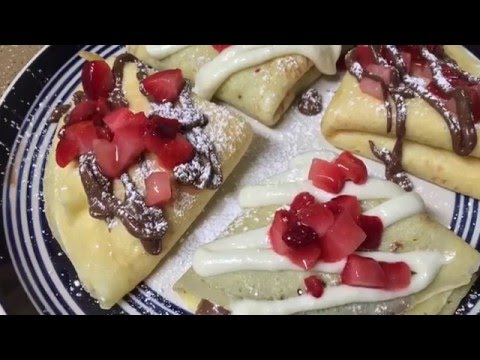 Cream Cheese/Nutella Crepes