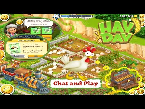 Hay Day - May Chat and Play on the Farm. Tom Booster, Diamond Event Prize & Farming.
