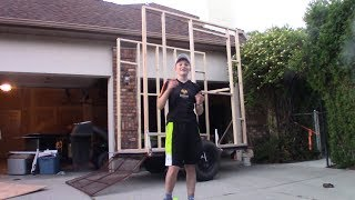 14 Year old building a shave ice shack! EP2