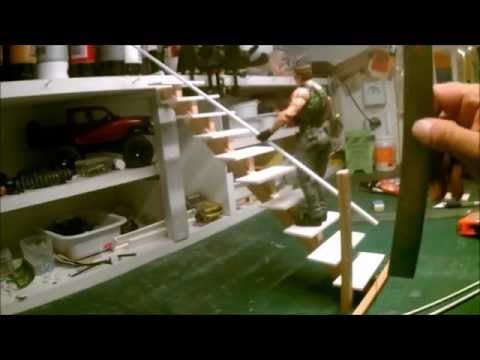 DIORAMA BUILDING STAIRCASE FOR THE LOFT SCALE 1.10