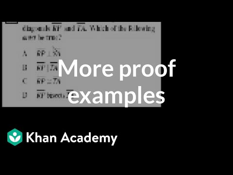 CA Geometry: More proofs | Worked examples | Geometry | Khan Academy