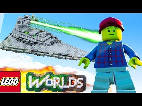 LEGO Worlds - THE SPACESHIP BUILD! LEGO Land #17 - LEGO Worlds SpaceShip (LEGO Worlds)