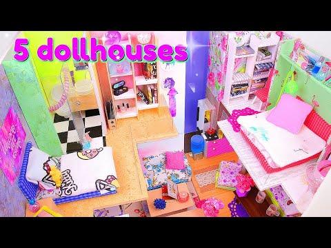 5 DIY Miniature Dollhouses ~ Kitchen, Bathroom, etc.