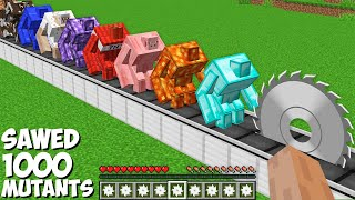 You can SAWED ALL MUTANTS in Minecraft ! SUPER TRAP FOR 1000 MUTANTS !
