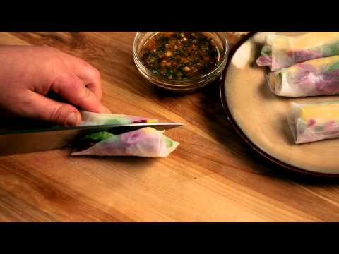 How to make homemade spring rolls with avocado and rice paper — Appetites®