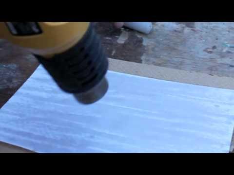 Making waxed paper for violin repair