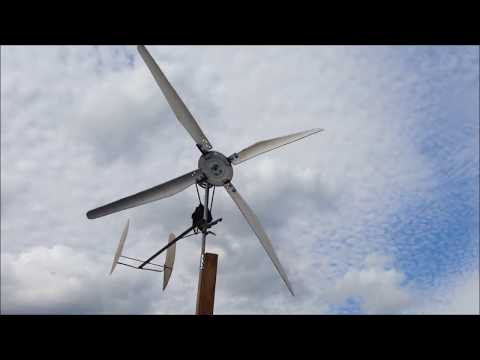 DIY Wind Turbine Car Alternator Windmill / PVC Blades