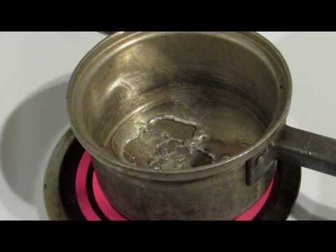 Melting tin on my stove top