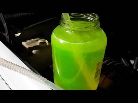 How to  drain antifreeze coolant from a car or truck fast and easily using a siphon