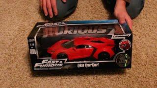 Unboxing - 1:18 Scale Jada Lykan Hypersport - Fast & Furious 7