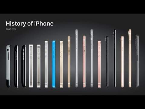 History of the Apple iPhone 2007-2017 | TECHMANIA