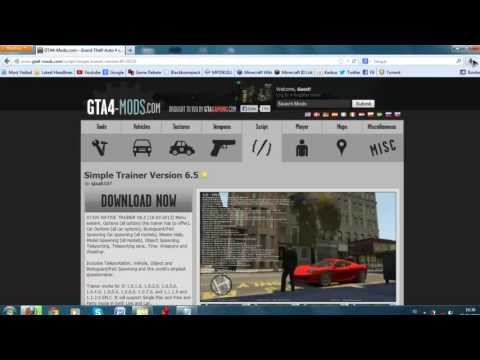 GTA IV Simple Native Trainer 6.5 Install (Works on all patches!)