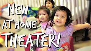 OUR NEW AT HOME MOVIE THEATER! - February 27, 2017 -  ItsJudysLife Vlogs