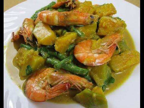 Ginataang Kalabasa at Sitaw (Squash and String Beans)