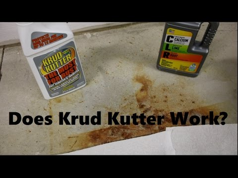 Concrete Rust Stain Cleaning Test 2 of 4: Does Krud Kutter work?