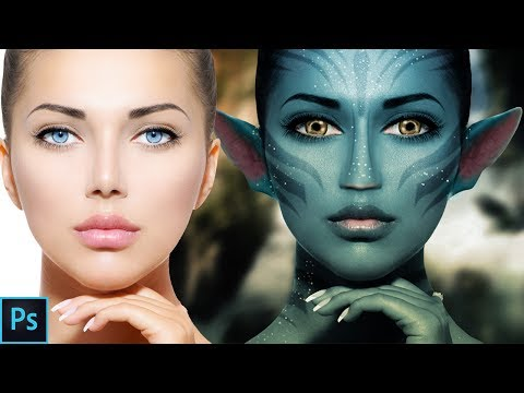 Photoshop Tutorial - How to Paint onto a Face(AVATAR EFFECT)