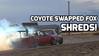 Coyote Swapped Foxbody Slaying Tires @ Imi