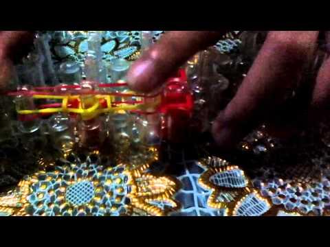 How to make flip side loom bracelet video 1