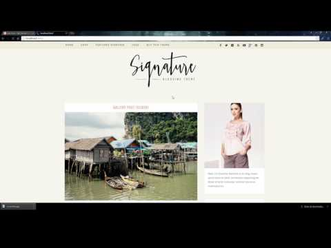 WordPress Tutorial: How To Add Slideshow Post To Signature Blog WordPress Theme