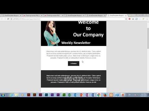 Create email template in Adobe Dreamweaver CC 2017